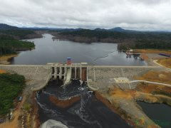 中国电建承建的赤道几内亚吉布洛水电站上游调蓄水库竣