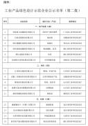 工业产品绿色设计示范企业名单(第二批)公示