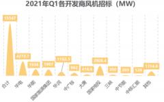 数据 | 2021年一季度中国风机招标超15GW,装机重点重